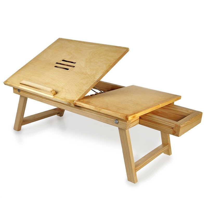 Genial Pine Wood Laptop Table